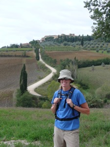 Hiking to Montepulciano